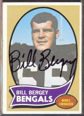 autographed 1970 topps bill bergey
