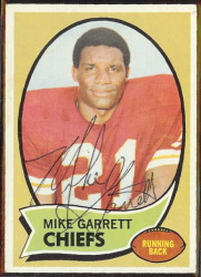 autographed 1970 topps mike garrett