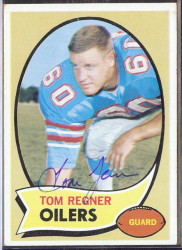 autographed 1970 topps tom regner