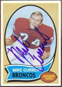 autographed 1970 topps mike current