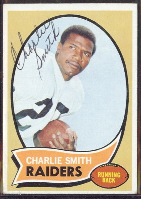 autographed 1970 topps charlie smith