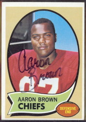 autographed 1970 topps aaron brown