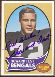 autographed 1970 topps howard fest