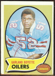 autographed 1970 topps garland boyette