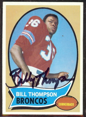 autographed 1970 topps bill thompson