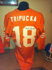 Frank Tripucka game worn jersey