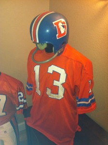 Steve Tensi jersey and helmet
