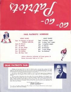 1962 patriots season ticket brochure
