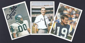 autographed tcam football cards