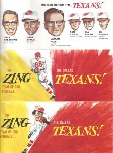 dallas texans season ticket brochure