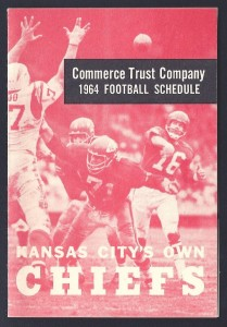 1964 kansas city chiefs pocket schedule