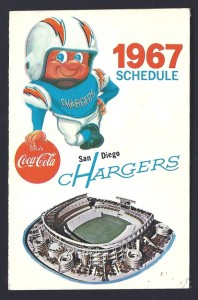 1967 san diego chargers pocket schedule