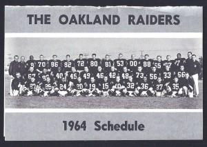 1964 oakland raiaders pocket schedule