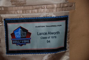 lance alworth hall of fame jacket