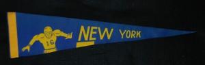 new york titans half pennant