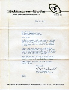 Bill Wood Colts contract