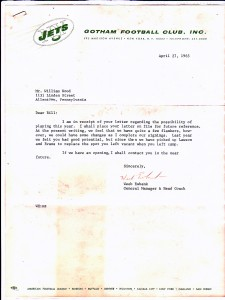 Bill Wood Jets letter
