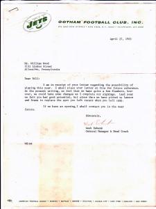 Bill Wood Jets letter