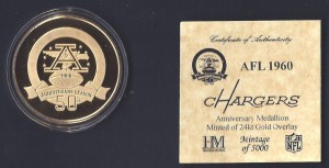 afl 50th anniversary coin