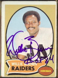 autographed 1970 topps willie brown