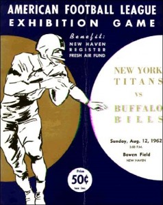 bills vs. titans game program