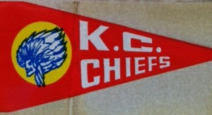 1964 kansas city chiefs insert pennant