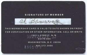 al bansavage nfl players association card