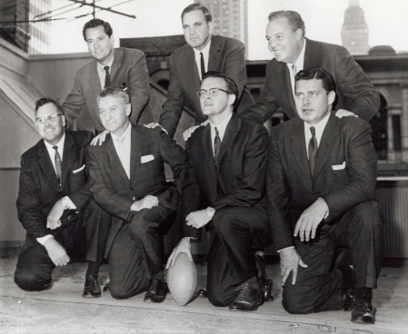 Original AFL Owners: Back Row - Barron Hilton, Ralph Wilson Harry Wismer Front Row - Bob Howsam, Max Winter, Laar Hunt, Bud Adams