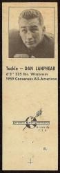 1960 Oilers Matchbook - Dan Lanphear