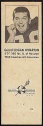 1960 Oilers Matchbook - Hogan Wharton