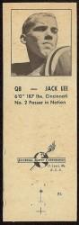 1960 Oilers Matchbook - Jack Lee