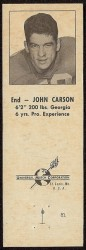 1960 Oilers Matchbook - John Carson