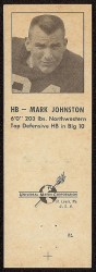 1960 Oilers Matchbook - Mark Johnston