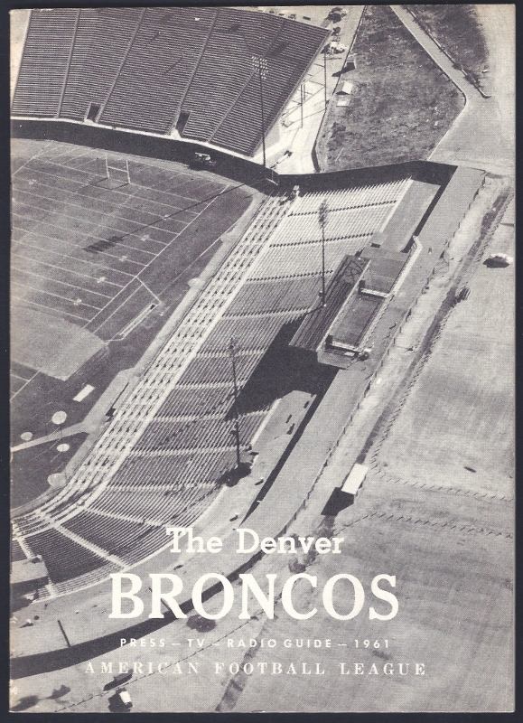 1961 denver broncos media guide