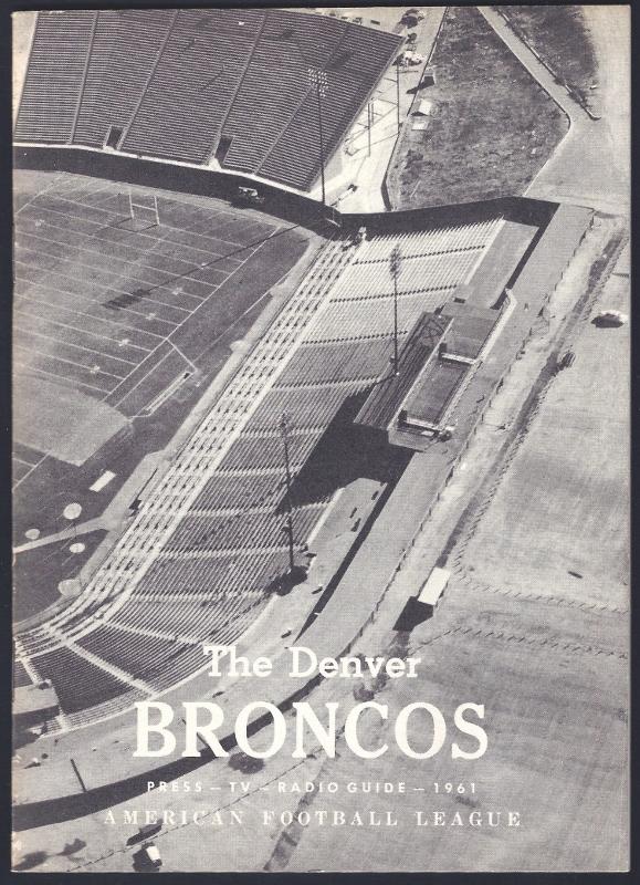 1961 denver broncos media guide