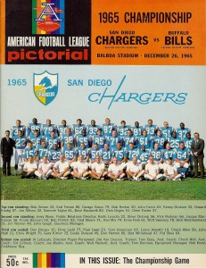 1965 afl championship game program