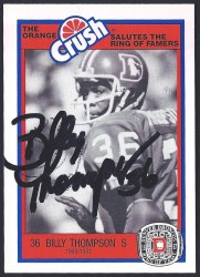1987 Broncos Rign of Fame - Billy Thompson