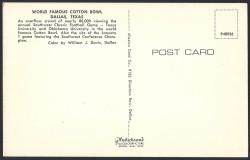 cotton bowl postcard