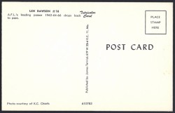 len dawson postcard