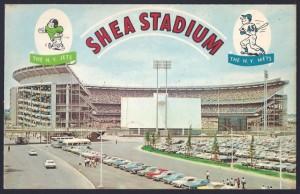 shea stadium dexter press postcard