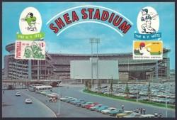 shea stadium postcard