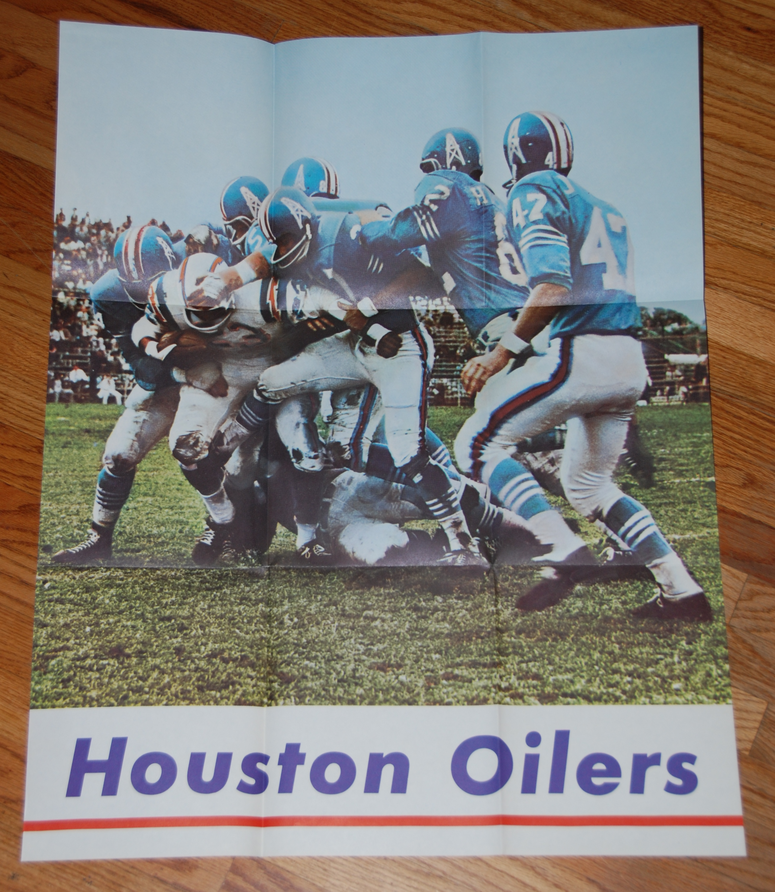 1965 Houston Oilers Yearbook   Insert Poster  c7292dab8