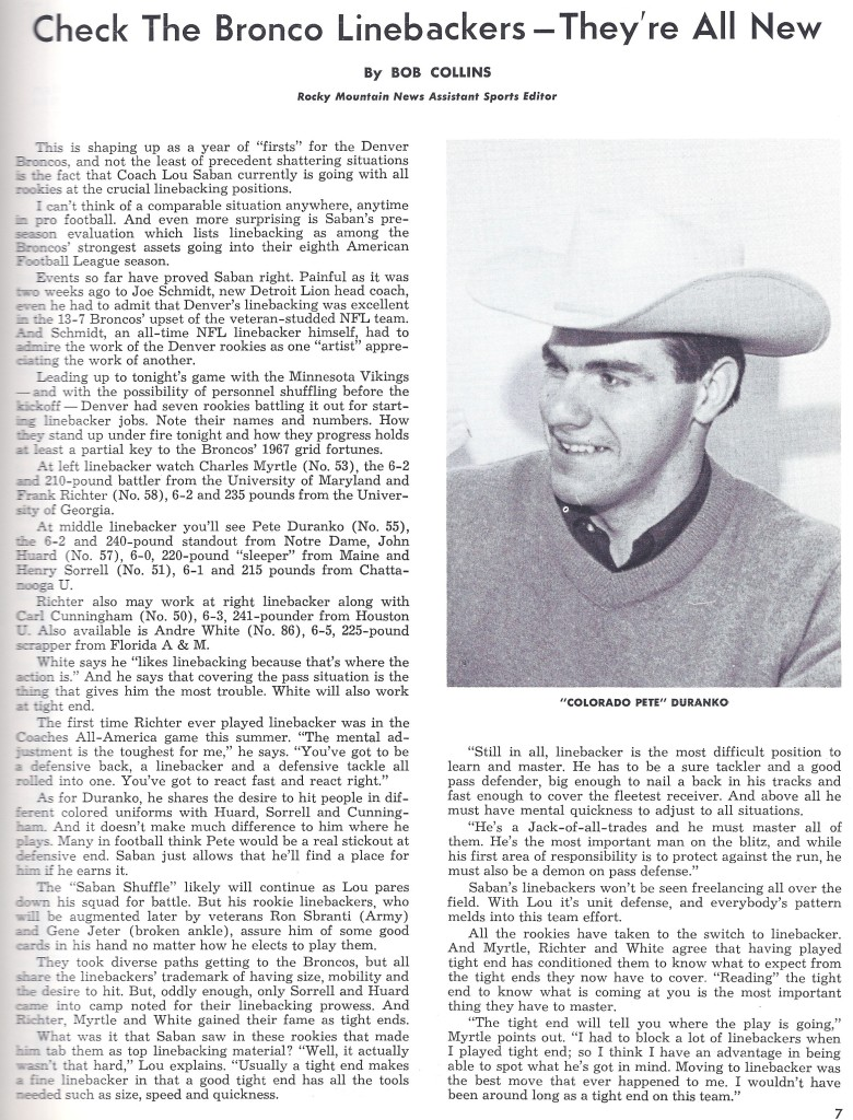 1967 broncos linebackers