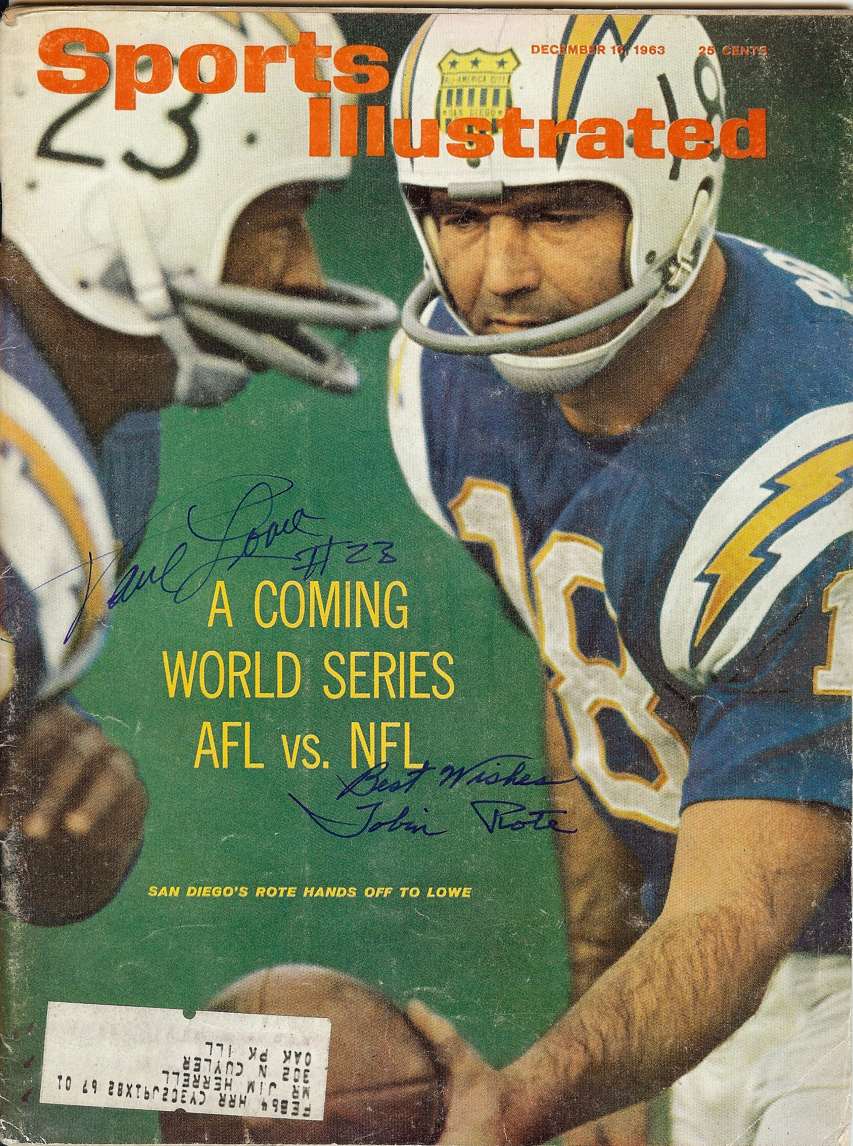 1963 sports illustrated