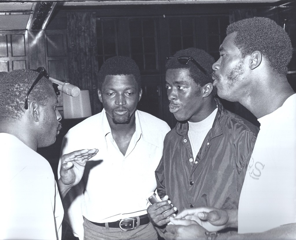 Gene Foster, Jim Tolbert, Jim Hill, and unknown player.