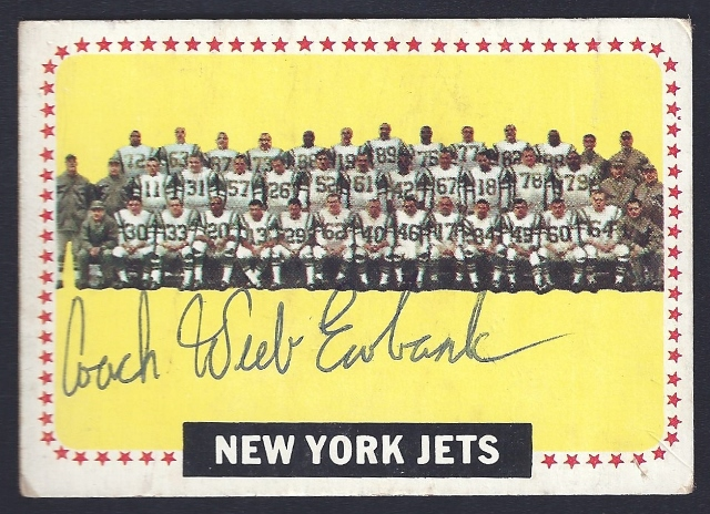 1964 topps new york jets