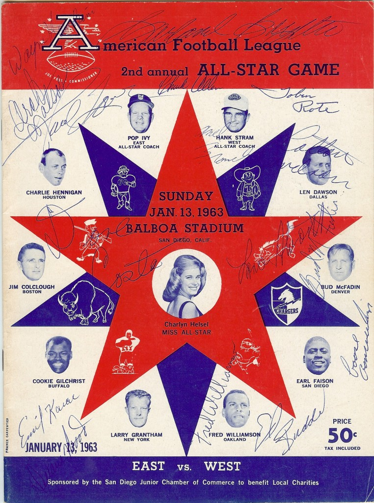 1963 afl all star program