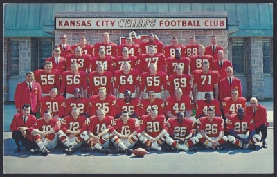 1964 kansas city chiefs postcard