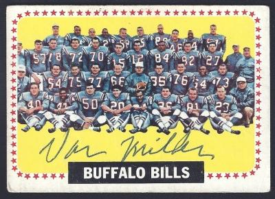 1964 topps bills team - van miller