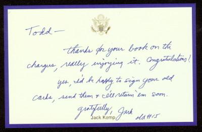Jack Kemp letter